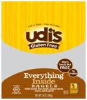 Udi\'s Gluten Free Everything Inside Bagel (Case of 8)