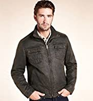 Big & Tall North Coast Mock Leather Jacket