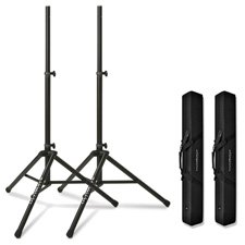 2Ea Ts-80Bt 3.5Ft-6Ft 7In Black Speaker Stands W/2Ea Bag90 Black Bags-By-Ultimate