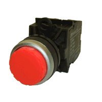 American Led-Gible Sw-2837-212 Red Push Button Switch, Extended Face
