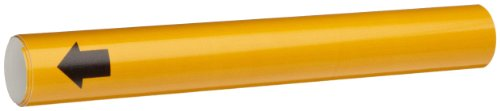 """Brady 4010-B Snap-On 1-1/2"""" - 2-3/8"""" Outside Pipe Diameter B-915 Coiled Printed Plastic Sheet Yellow Color Pipe Marker"""