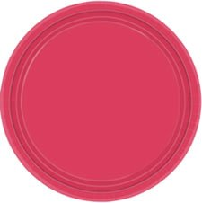 "Hot Pink 9"" Paper Plate, 8ct. - 1"