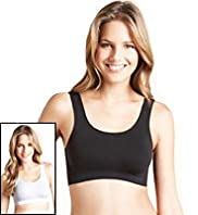 2 Pack Non-Wired Crop Tops