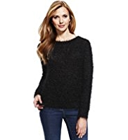 M&S Collection Slash Neck Knitted Jumper