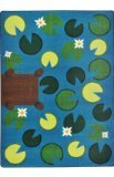 "Joy Carpets Kid Essentials Early Childhood Playful Pond Rug, Multicolored, 5'4"" x 7'8"""