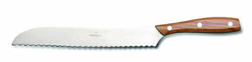 "Consigli ""Chianino"" 8-2/3-Inch Blade Olive Wood Handle Bread Knife"