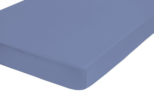 Castell 77113/256/041 Lenzuolo con angoli, per materassi da 140 x 200 cm a 160 x 200 cm, colore: Blu