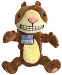 Scaredy Squirrel Plush Puppet from Melanie Watt books - Stuffed Animals