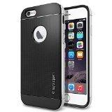 iPhone 6 ケース, Spigen [ リアル アルミニウム バンパー] ネオ・ハイブリッド メタル iPhone 4.7 (2014) The New iPhone アイフォン6 (国内正規品) (サテン・シルバー SGP11037)