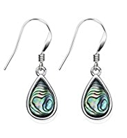 M&S Collection Finest Sterling Silver Shell Teardrop Earrings