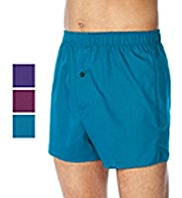 3 Pack Pure Cotton Jewel Design Boxers