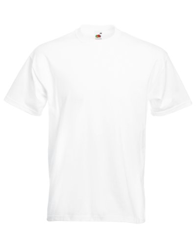 Fruit Of The Loom Men's SS021M Short Sleeve T-Shirt, White, Medium (Manufacturer Size:M)