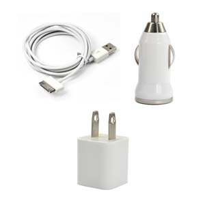 Case Star ® White USB Wall Charger + USB Mini
