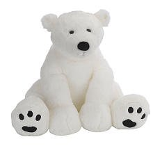 Animal Alley 15.5 inch Polar Bear - White