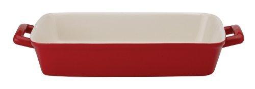 HIC Ceramic 13-Inch Lasagna Pan, Rose