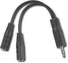 Dynex Dx-Ad103 Dual Mini Headphone Jack Adapter