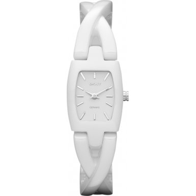 DKNY Women's NY8728 White Ceramic Quartz Watch with White Dial