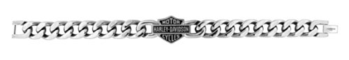 Harley-Davidson Men's Bar & Shield Stainless Steel Chain Bracelet HSB0015