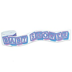 FR Baby Shower Crepe Streamer Party Accessory (1 count) (1/Pkg) (Streamer Baby Shower compare prices)