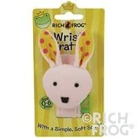 Rich Frog Wrist Rattle- Pink Bunny