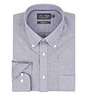 Pure Cotton Quick Iron Classic Collar Plain Oxford Shirt