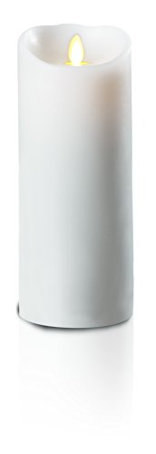 GKI/Bethlehem Lighting Luminara Wax Candle, 3.5 by 7-Inch, White