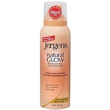 Jergens Natural Glow Foaming Daily Moisturizer Fair to Medium Skin Tones