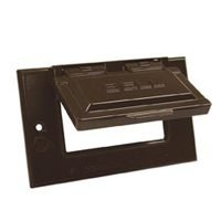 Hubbell Bell 5101-2 Horizontal Gfci Single Gang Weatherproof Cover, Bronze