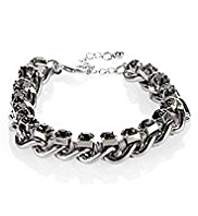 M&S Collection Multi-Faceted Diamanté Chain Bracelet