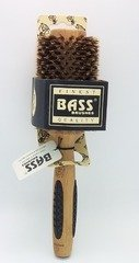 Brush - Large Round 100% Wild Boar Bristles Long Hair Styles Light Wood Bass Brushes 1 Brush (Bass Hair Brushes Round compare prices)