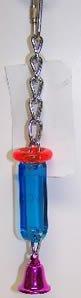 Bell Plastics B346 Single Bell Hanging Small Acrylic Bird Toy