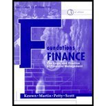 Foundations of Finance (0130192287) by KEOWN