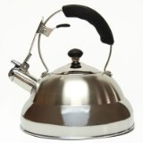Creative Home Saturn Heavy Gauge Stainless Steel Whistling Tea Kettle With Capsulated Bottom, 2.8-Quart