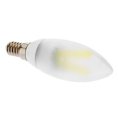 E14 2W 6000K Cool White Light Led Frosted Candle Bulb (230V)