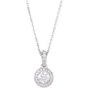 Genuine IceCarats Designer Jewelry Gift 14K White Gold Diamond Entourage Necklace 18