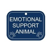 EMOTIONAL SUPPORT ANIMAL TAG FOR MEDIUM TO LARGE ANIMAL