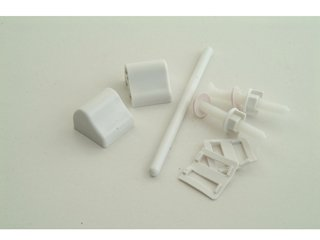 Basic P/P 001412 Toilet Seat Fitting White