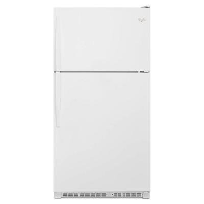 Whirlpool 33 in. W 20.5 cu. ft. Top Freezer Refrigerator in White (Top Freezer Refrigerator In White compare prices)