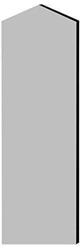 Salsbury Industries 33346Gry Double End Side Panel For 21-Inch Deep Designer Wood Locker With Sloping Hood, Gray front-488403