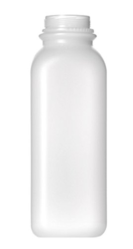 16oz Natural HDPE Plastic Beverage Container/Bottle with Tamper Evident Snap-Screw Lids/Caps (pack of 10) (Plastic Beverage Jug compare prices)