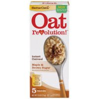 Better Oats Oat Revolution! Instant Oatmeal ~ Maple & Brown Sugar Flavor ~ 5 Pouches per 7.55 oz Box (Pack of 3 Boxes)