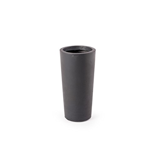 pflanzk bel blumenweide cylinder schwarz 20x40cm fiberglas blumenk bel wetterfestes. Black Bedroom Furniture Sets. Home Design Ideas