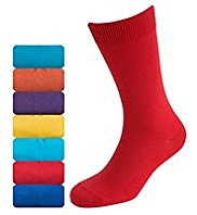 7 Pairs of Cotton Rich Freshfeet™ Socks with Silver Technology
