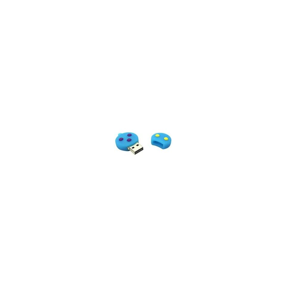 8GB Topaz Snowman Cartoon USB Flash Drive Blue