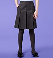 Plus Fit Pleated Traditional Skirt with Stormwear™