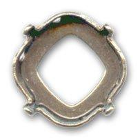 Cabochon Fassung 4461 Viereckig 16 mm Bronze Ton