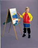 School Smart Full Protection Vinyl Art Smock - 25 x 21 inches - Multiple Colors