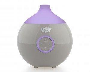 Multifunktions-Gerät IRIS in Taupe - Luftreiniger / Luftbefeuchter / Duftspender / Wasserdampf mit Stimmungslicht - 4-Farb-LED-Licht (Taupe)