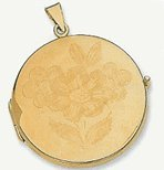 36mm 14k Fancy Round Locket