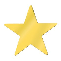 Jumbo Foil Star Cutout (gold) Party Accessory  (1 count)